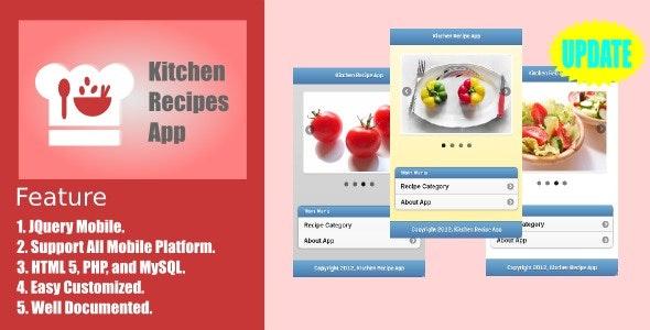 Kitchen Recipe App