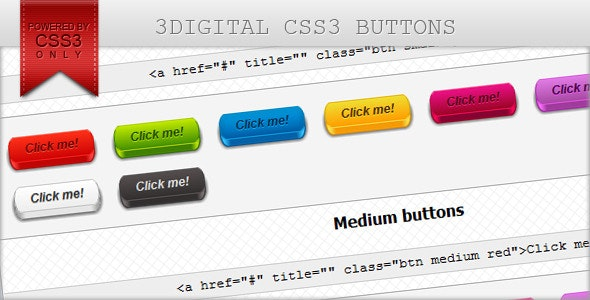 3Digital CSS3 buttons - CodeCanyon Item for Sale