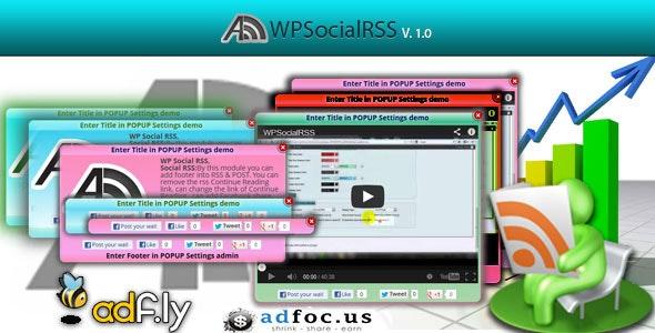 WPSocialRSS - CodeCanyon Item for Sale
