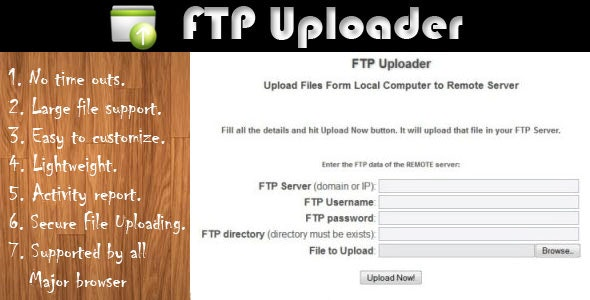 FTP Uploader - CodeCanyon Item for Sale