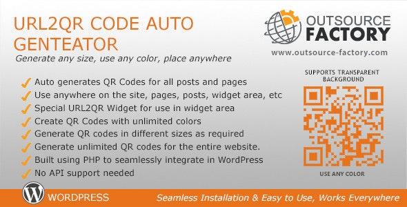 URL2QR Code Auto Generator - CodeCanyon Item for Sale