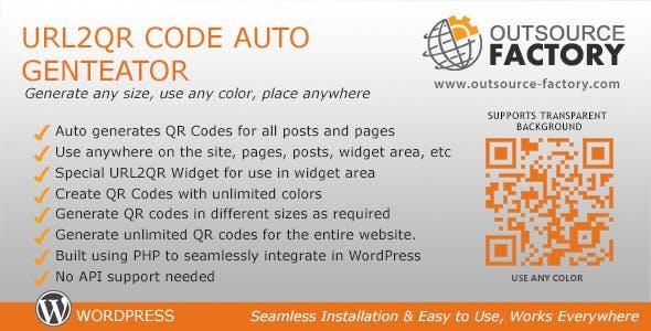 URL2QR Code Auto Generator