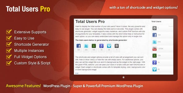 Total Users Pro - WordPress Users Counter