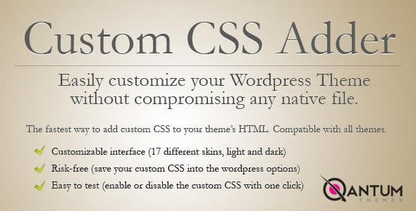 Wordpress CSS Adder Plugin - CodeCanyon Item for Sale
