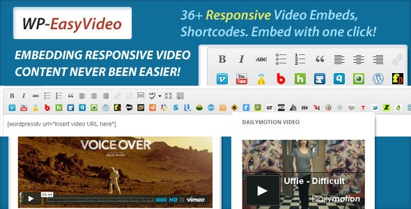 EasyVideo - Responsive Video Embeds / Shortcodes - CodeCanyon Item for Sale