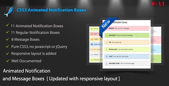 CSS3 Animated Notification Pack - CodeCanyon Item for Sale