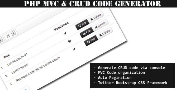 MiniMVC - PHP Mini Framework & CRUD Code Generator