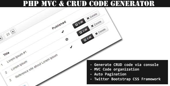 MiniMVC - PHP Mini Framework & CRUD Code Generator - CodeCanyon Item for Sale