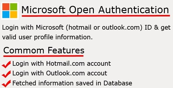 Microsoft Open Authentication - CodeCanyon Item for Sale