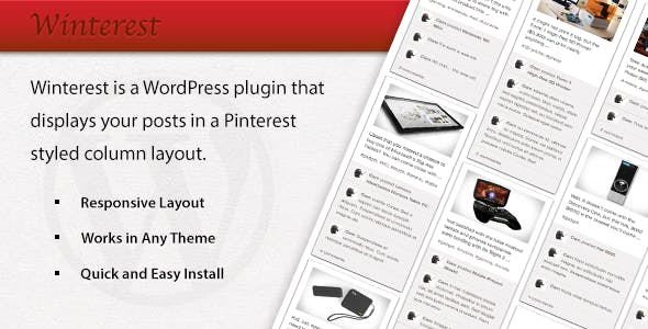 Winterest WordPress Plugin
