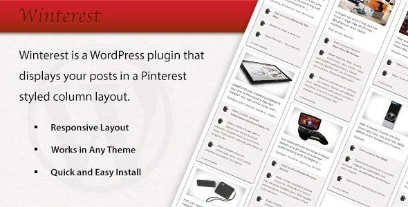 Winterest WordPress Plugin - CodeCanyon Item for Sale