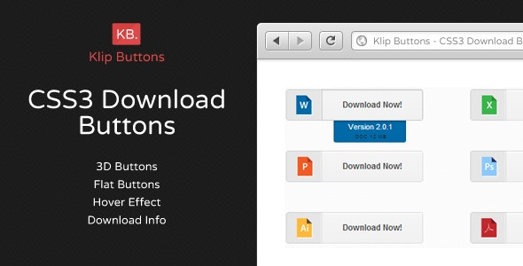 CSS3 Download Retina Buttons - CodeCanyon Item for Sale