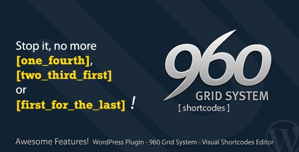960 Grid System Shortcode - CodeCanyon Item for Sale