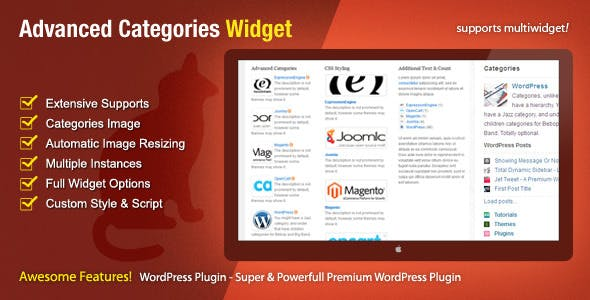Advanced Categories Widget