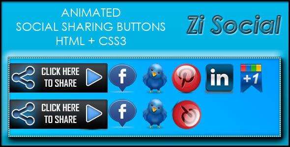 Zi Social Share - HTML + CS33