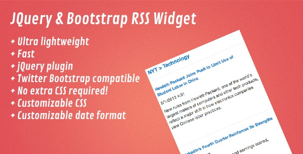 jQuery & Bootstrap RSS Widget - CodeCanyon Item for Sale