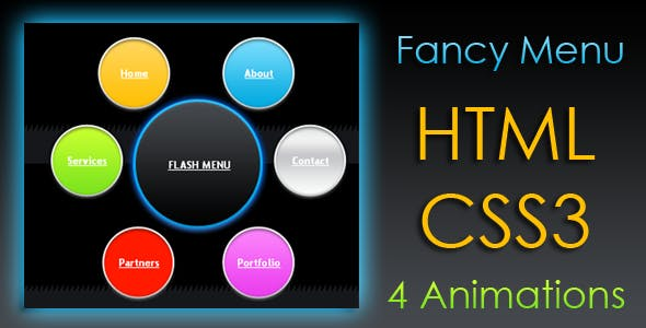 Animated Fancy Menu - HTML & CSS3