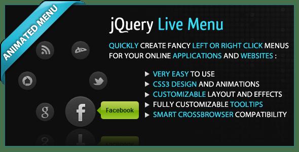 jQuery Live Menu
