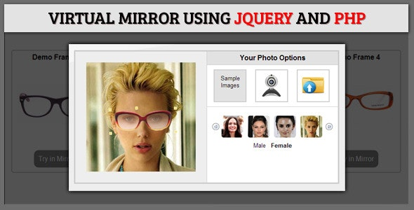 Virtual Mirror Using jQuery and PHP - CodeCanyon Item for Sale