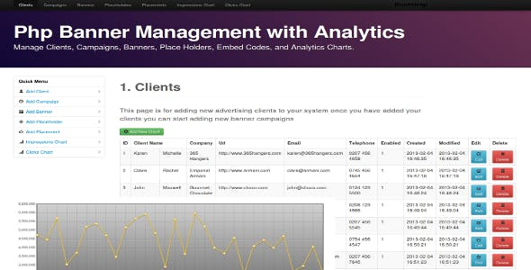 Banner Manager with Analytics for PHP