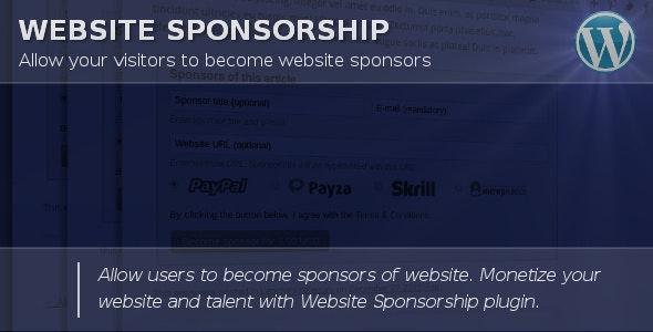 Website Sponsorship - CodeCanyon Item for Sale
