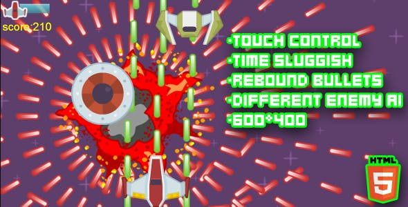 Time Shield Html5 STG Game
