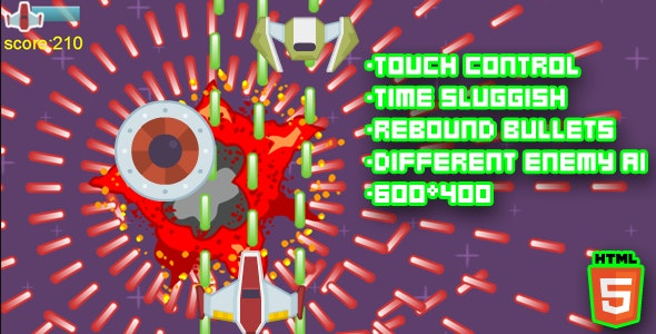 Time Shield Html5 STG Game - CodeCanyon Item for Sale