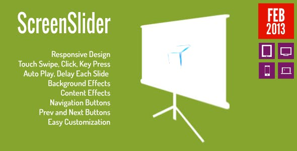 ScreenSlider - Reponsive Touch Presentation