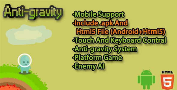Anti-Gravity html5 android Game  - CodeCanyon Item for Sale