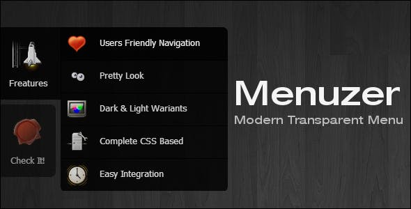 Menuzer - Modern Transparent Side Menu