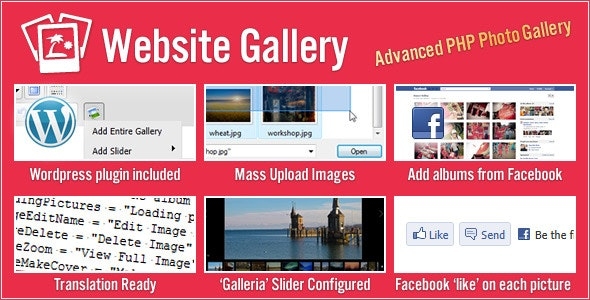 Website Gallery (with Slider & Facebook Support) - CodeCanyon Item for Sale