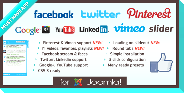 Social Slider for Joomla