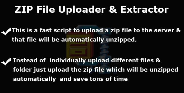 Zip File Uploader and Automatic Extractor