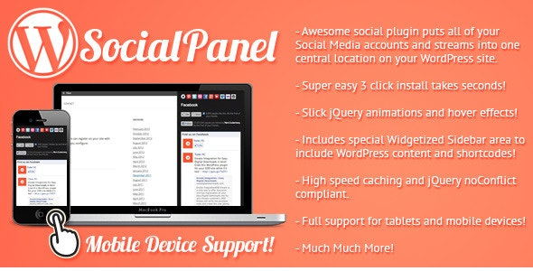 Social Panel for WordPress - CodeCanyon Item for Sale