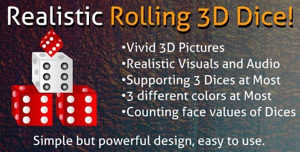 Realistic Rolling 3D Dice!