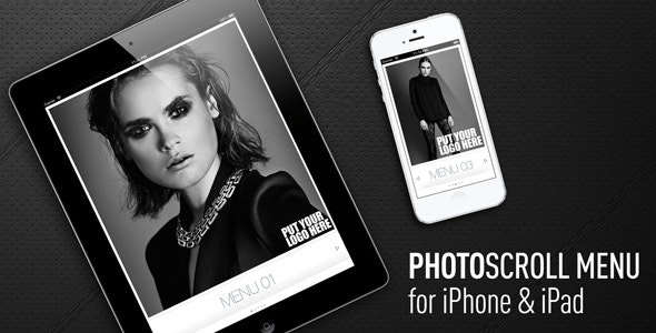 PhotoScrollMenu for iPhone & iPad - CodeCanyon Item for Sale