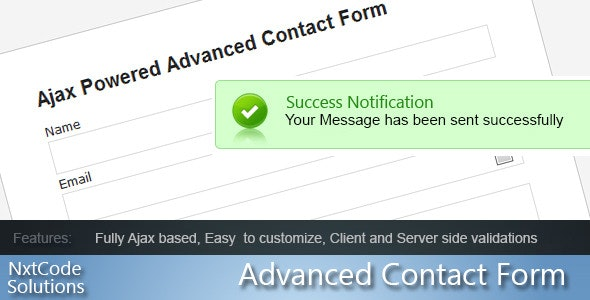 Advance Ajax Contact Form - CodeCanyon Item for Sale