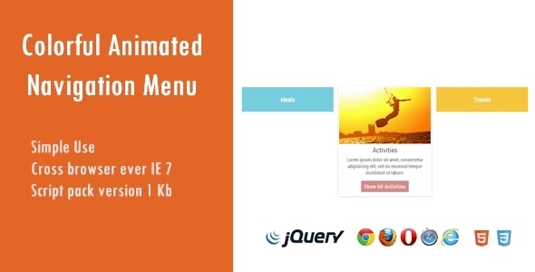 Colorful Animated Navigation Menu - CodeCanyon Item for Sale