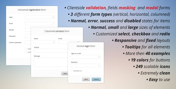 Pure CSS3 Forms Set + Validation and Masking