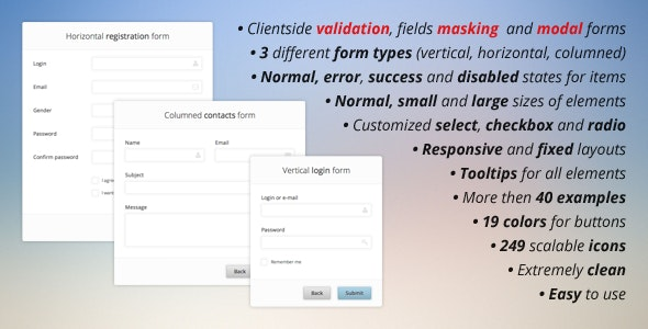 Pure CSS3 Forms Set + Validation and Masking - CodeCanyon Item for Sale