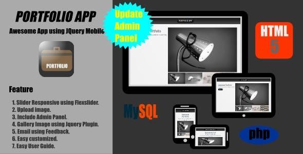 Portfolio App - Jquery Mobile