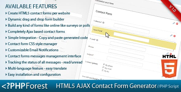 Contact Form Generator Plugins, Code & Scripts from CodeCanyon