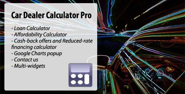 Car Dealer Calculator Pro - CodeCanyon Item for Sale