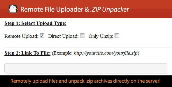 Remote .ZIP Uploader/Unzipper
