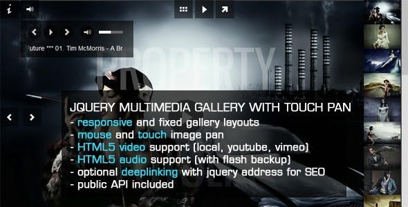 jQuery Image Gallery Slideshow with MousePan