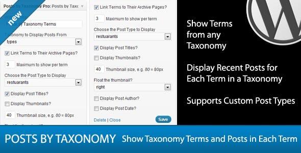 Posts By Taxonomy Widget Pro