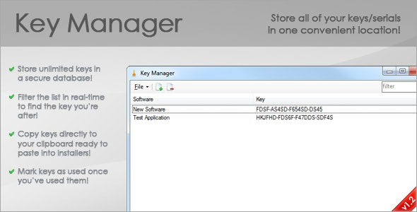 Key Manager - CodeCanyon Item for Sale