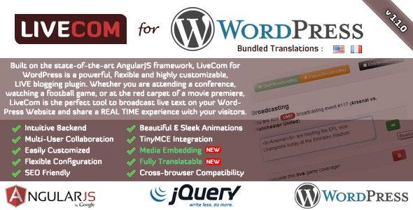 LiveCom for WordPress - A Live Blogging Plugin - CodeCanyon Item for Sale