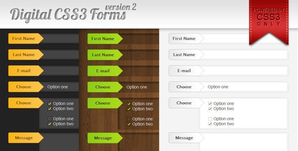 Digital CSS3 forms