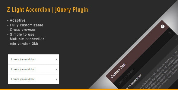 Z Light Accordion | jQuery Plugin - CodeCanyon Item for Sale